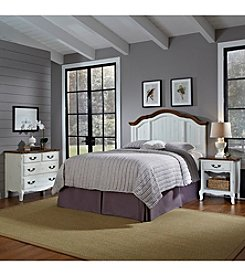 Home Styles® French Countryside Oak and Rubbed White King/California King Headboard Bedroom Collection