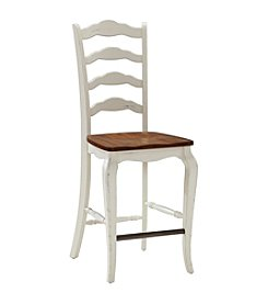 Home Styles® French Countryside  Oak and Rubbed White Counter Stool