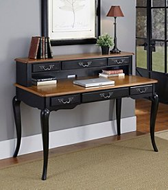 Home Styles® French Countryside Oak and Rubbed Black Executive Desk Collection