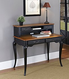 Home Styles® French Countryside  Oak and Rubbed Black Student Desk Collection
