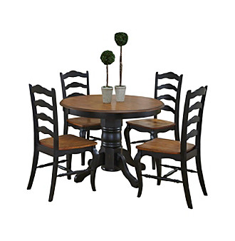 Home Styles® French Countryside Oak and Rubbed Black 5-p