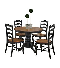 Home Styles® French Countryside Oak and Rubbed Black 5-pc. Dining Collection