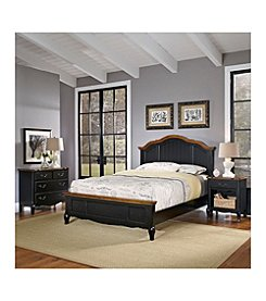 Home Styles® French Countryside Oak and Rubbed Black Bedroom Collection