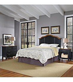 Home Styles® French Countryside Oak and Rubbed Black Full/Queen Headboard Bedroom Collection