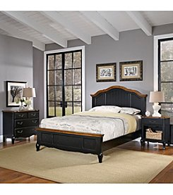 Home Styles® French Countryside Oak and Rubbed Black King Bedroom Collection