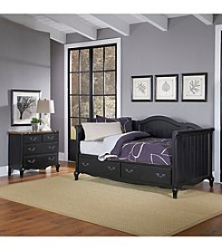 Home Styles® French Countryside Rubbed Black Daybed Collection