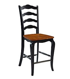 Home Styles® French Countryside Oak and Rubbed Black Counter Stool