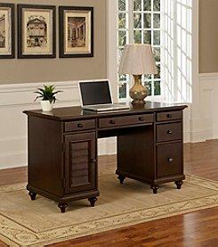 Home Styles® Bermuda Espresso Pedestal Desk