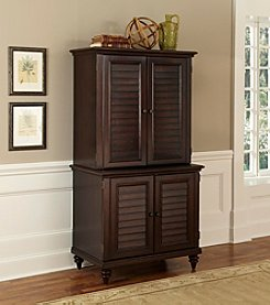 Home Styles® Bermuda Espresso Compact Computer Cabinet and Hutch Collection
