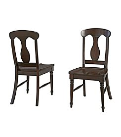 Home Styles® Set of 2 Bermuda Espresso Dining Chairs