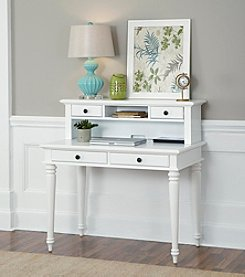 Home Styles® Bermuda Brushed White Student Desk and Hutch Collection