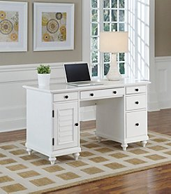Home Styles® Bermuda Brushed White Pedestal Desk
