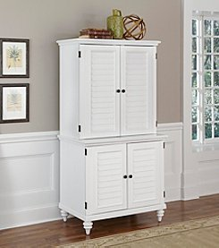 Home Styles® Bermuda Brushed White Compact Computer Cabinet and Hutch Collection
