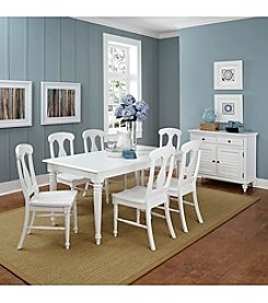 Home Styles® Bermuda Brushed White Rectangular Dining Room Collection