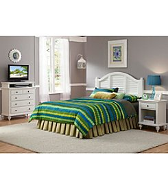 Home Styles® Bermuda Brushed White King Bedroom Collection and Media Chest