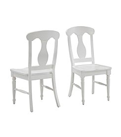 Home Styles® Set of 2 Bermuda Brushed White Dining Chairs