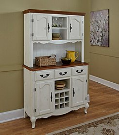 Home Styles® French Countryside Oak and Rubbed White Buffet and Hutch Collection