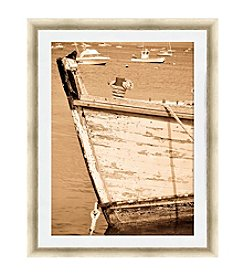 Greenleaf Art Sepia Bow Framed Canvas Art