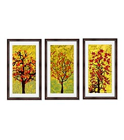 Greenleaf Art Fall Trees Framed Canvas Art