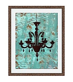 Greenleaf Art Vintage Chandelier I Framed Canvas Art