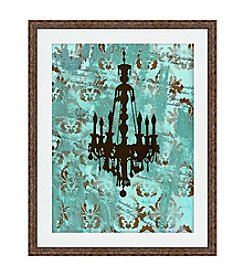 Greenleaf Art Vintage Chandelier II Framed Canvas Art