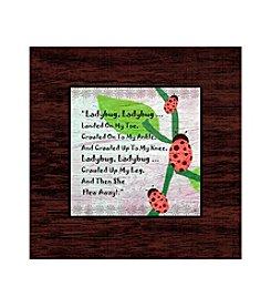 Greenleaf Art Ladybug Art Plaque