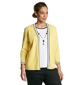 Alfred Dunner® Plus Size Monte Carlo Layered Look Top With Necklace