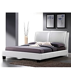 Baxton Studios Sabrina Modern Full Size Bed with Overstuffed Headboard