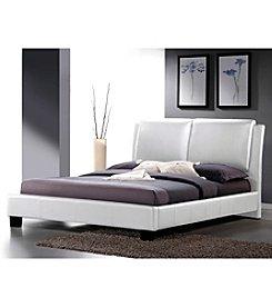 Baxton Studios Sabrina Modern Full Size Bed with Overstuffed Headboard