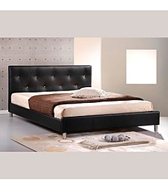 Baxton Studios Barbara Modern Full Size Bed with Crystal Button Tufting
