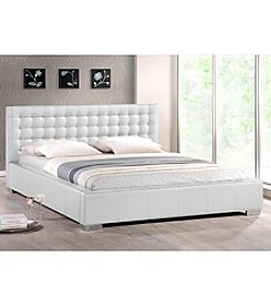 Baxton Studios Madison Modern Full Size Bed with Upholstered Headboard