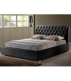 Baxton Studios Bianca Modern Full Size Bed with Tufted Headboard
