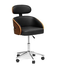 Baxton Studios Kneppe Black Modern Office Chair