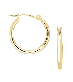 14K Yellow Gold 16mm Hoop Earrings