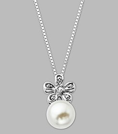 8mm Cultured Freshwater Pearl Pendant in Sterling Silver