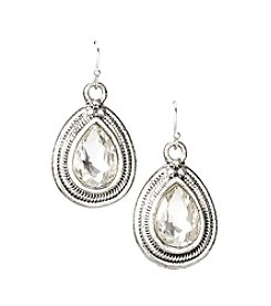 Erica Lyons® Silvertone Update Earrings