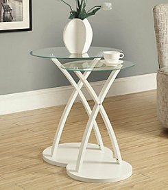 Monarch White Bentwood 2-pc. Nesting Table Set