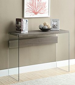 Monarch Milwaukee Tempered Glass Console Table