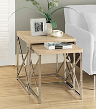 Monarch Henrick Metal 2-pc. Nesting Table Set