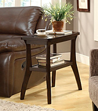Monarch Dark Walnut Veneer Accent Side Table