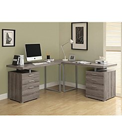 Monarch Dark Taupe Reclaimed-Look Desk Collection