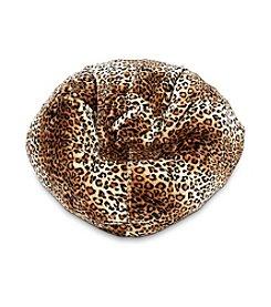 Ace Bayou Fur Leopard Bean Bag
