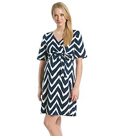 Three Seasons Maternity™ Surplice Print Dress