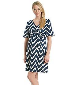 Three Seasons Maternity™ Surplice Print Dress