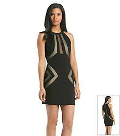 Emerald Sundae® Juniors' Illusion Fitted Dress