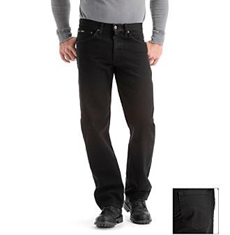 Lee® Men's Black 'Core' Regular Fit Jeans