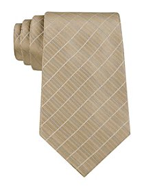 Calvin Klein Men's Etched Windowpane 'B' Silk Tie