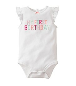 Carter's® Baby Girls' White First Birthday Bodysuit