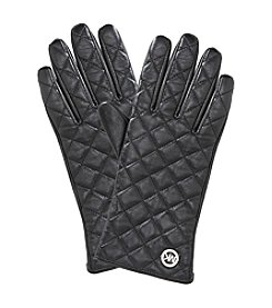 MICHAEL Michael Kors® Black Quilted Leather Gloves