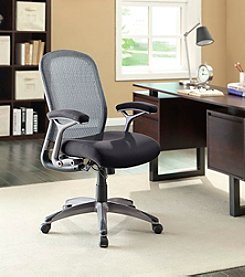 Whalen Furniture Graysen Mesh & Twill Managers Chair